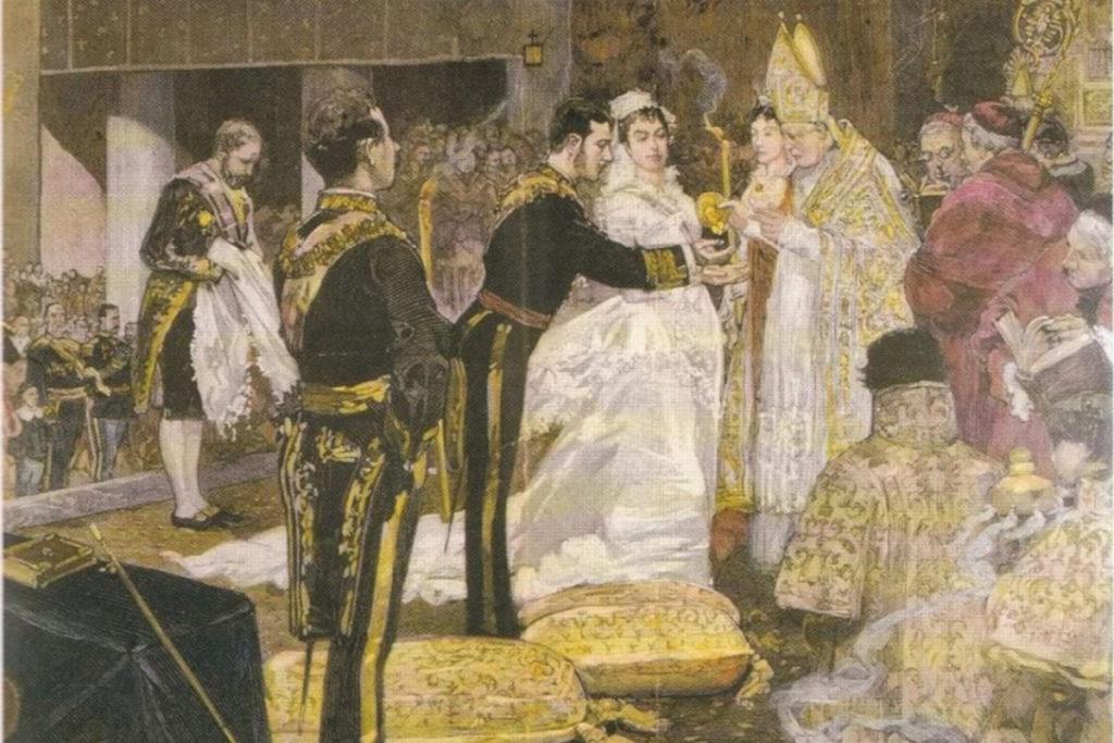 Boda del rey Alfonso XII.