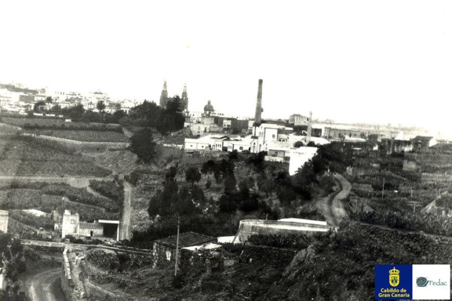 Fábrica de ron, Arucas, 1930