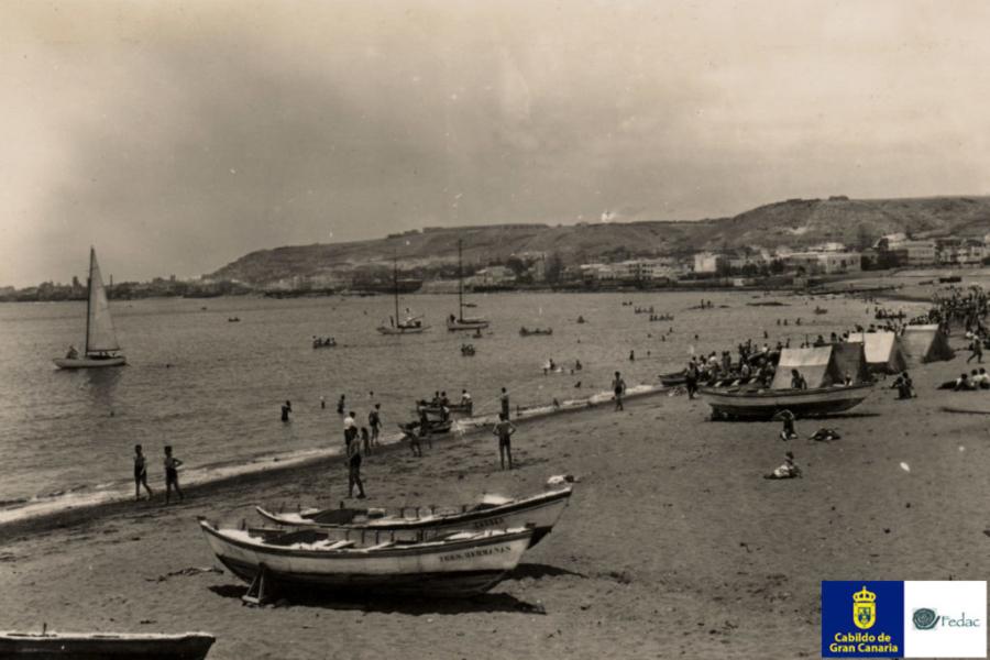Playa las Alcaravaneras, 1945