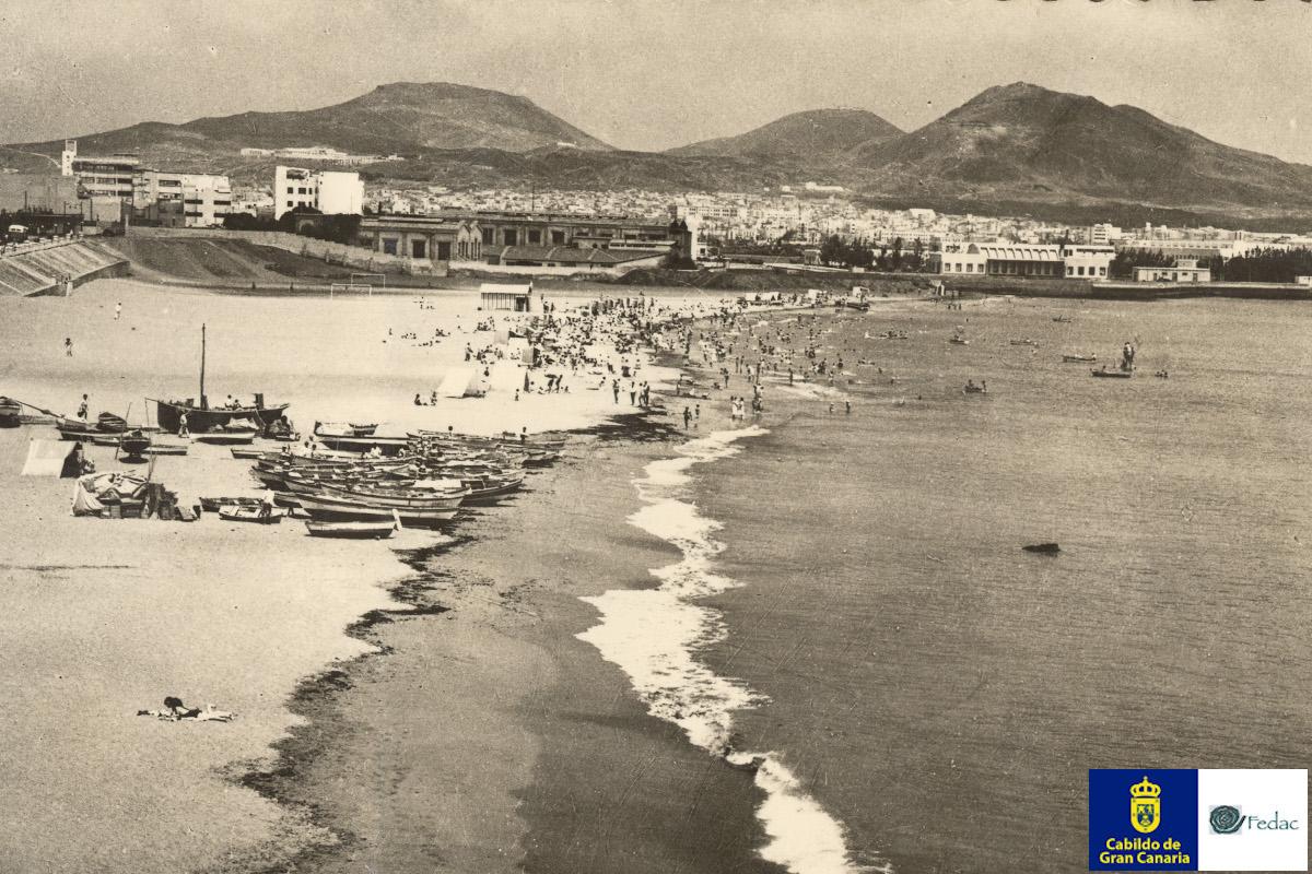 Playa las Alcaravaneras, 1955