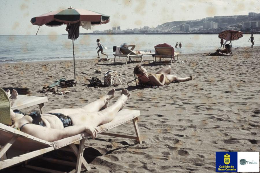 Playa las Alcaravaneras, 1962