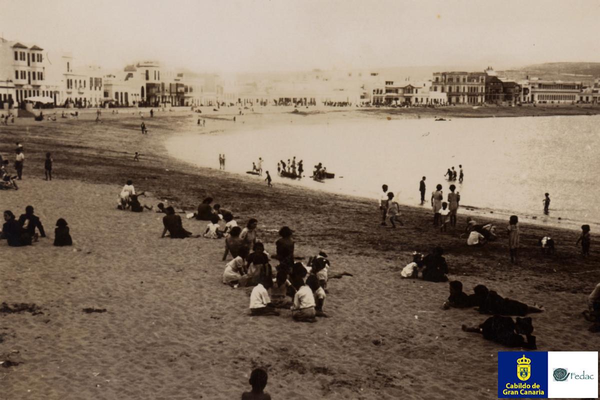 Playa Las Canteras, 1930