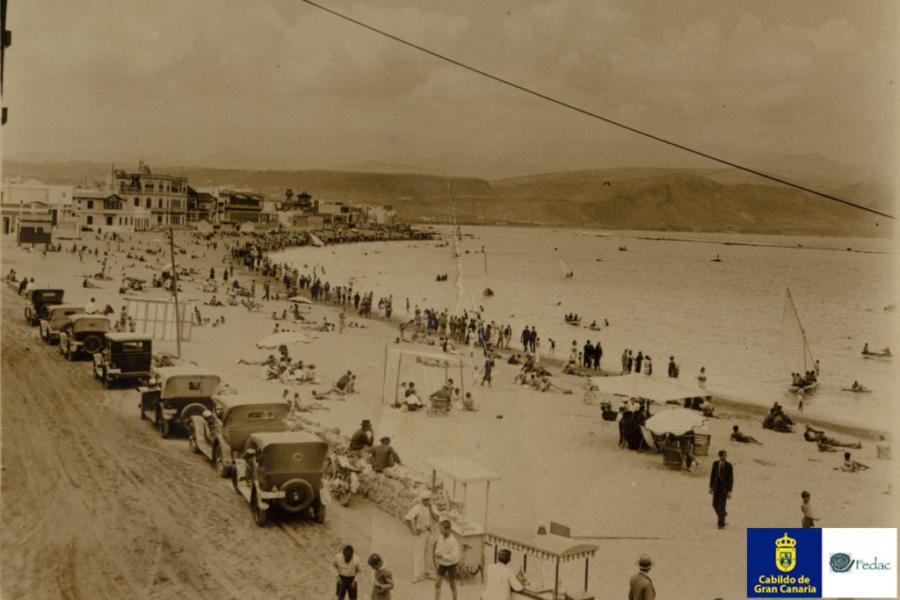 Playa Las Canteras, 1935