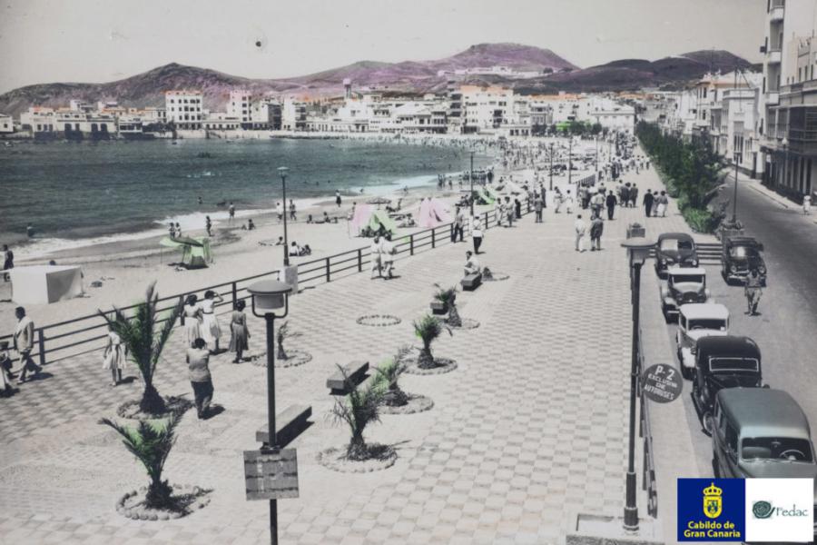 Playa Las Canteras, 1951