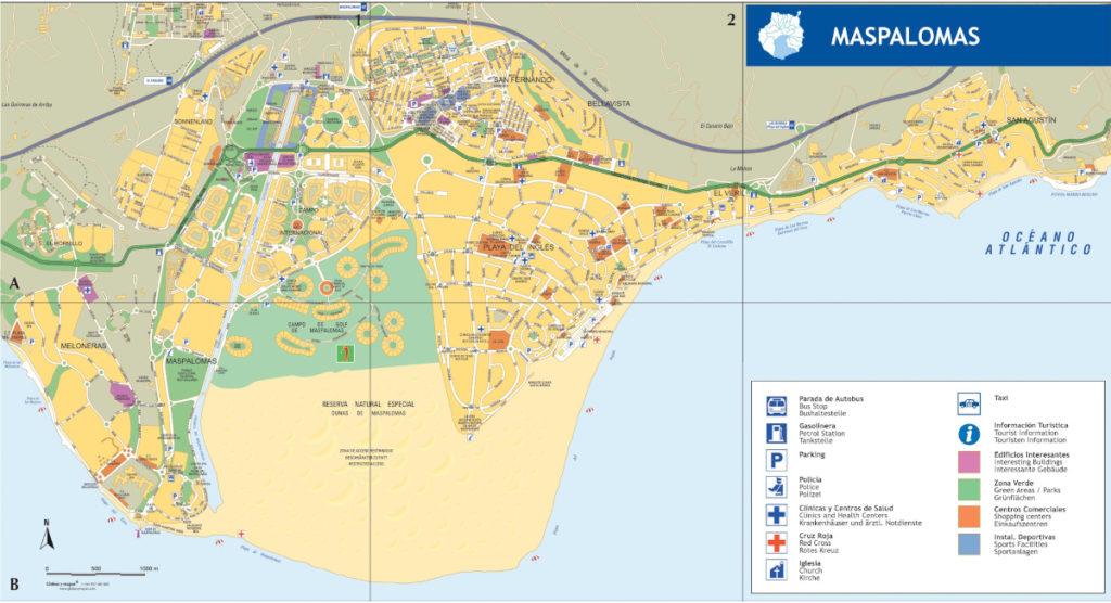 Maspalomas mapa